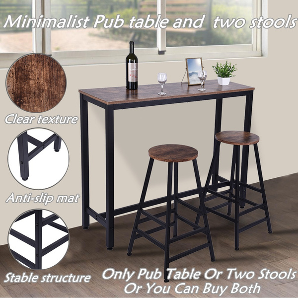 2 Set Of 28 Inch Bar Stool Bistro Square Leg Dining Kitchen Pub Chair Furniture Or Height Dining Table For Kitchen Nook Dining Room Wish