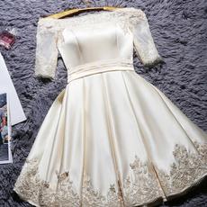 gowns, Short, Evening Dress, Robe