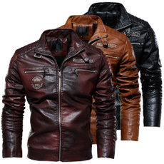 motorcyclecoat, leatherjacketformen, bikerjacket, Fashion