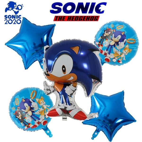 Sonic The Hedgehog Theme Birthday Party Supplies Banner Aluminum Balloons Set Decorations Party Kit For Children Wish