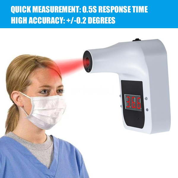 for Company Factory Wall-Mounted Body Thermometer Quick Test Non-Contact Infrared-Forehead Body Temperature Gauge Industrial Automatic Hands Free Body Thermometer Body Temperature Scanner
