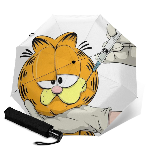 Garfield Automatic Trifold Umbrella Wish