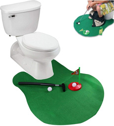 toilet, Set, Golf, Gifts