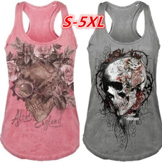 Summer, Vest, Fashion, skullprint