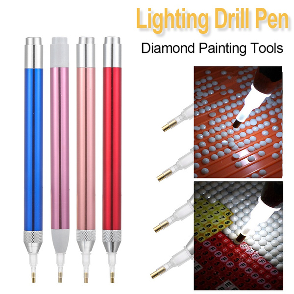 5D Lighting Diamonds Painting Pen Diamond Painting Tool Point Drill Pen