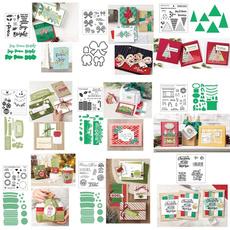 Scrapbooking, Christmas, rubberstamp, Handmade