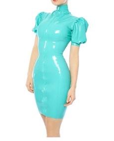 latex, Fashion, sleeve dress, Zip