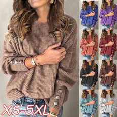 Round neck, Fashion, sweaters for women, Sleeve