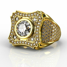 goldplated, party, DIAMOND, wedding ring