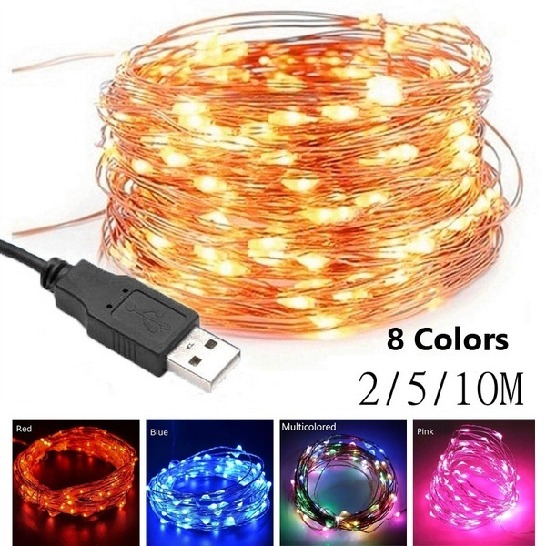 50//100LEDs USB Connector LED Fairy String Party Lights Lamp Xmas Waterproof~