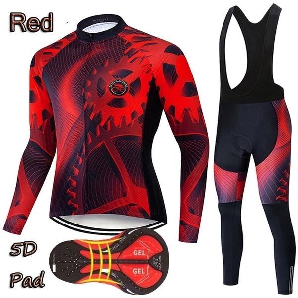2020 Fruhling Und Herbst Riesen Radtrikot Langarm Tragerhose Ropa Ciclismo Fahrrad Radfahren Clothing Mtb Reiten Sport Anzug Jersey Wish