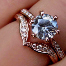 DIAMOND, Women Ring, gold, Engagement Ring