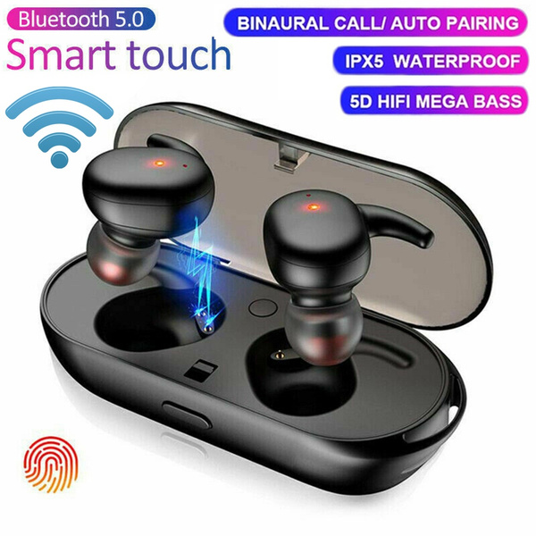 2020 Newest Bluetooth 5 0 Hifi Sound Tws Wireless Headphones Ipx7 Waterproof Stereo Earphone Sport Bluetooth Headset Noise Cancelling Headphones In Ear Bluetooth Earbuds With Charging Power Bank Wish