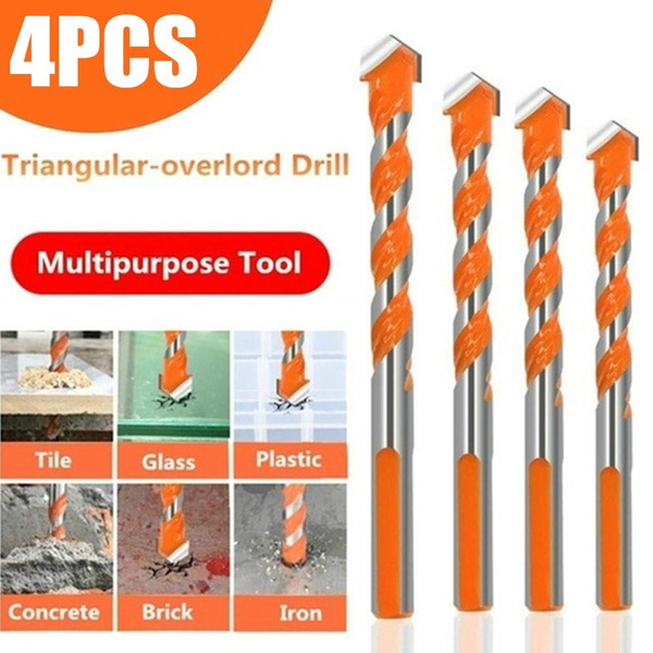 5 x Multifunctional Drill Bits Ceramic Glass Punching 6-12mm Hole Tool A8O7