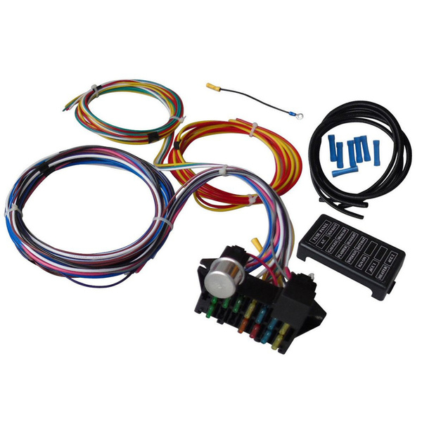 [SCHEMATICS_4US]  12 Circuit Universal Wiring Harness For Muscle Car Hot Rod Street Rod XL  Wires | Wish | Hot Rod Wiring Harness |  | Wish