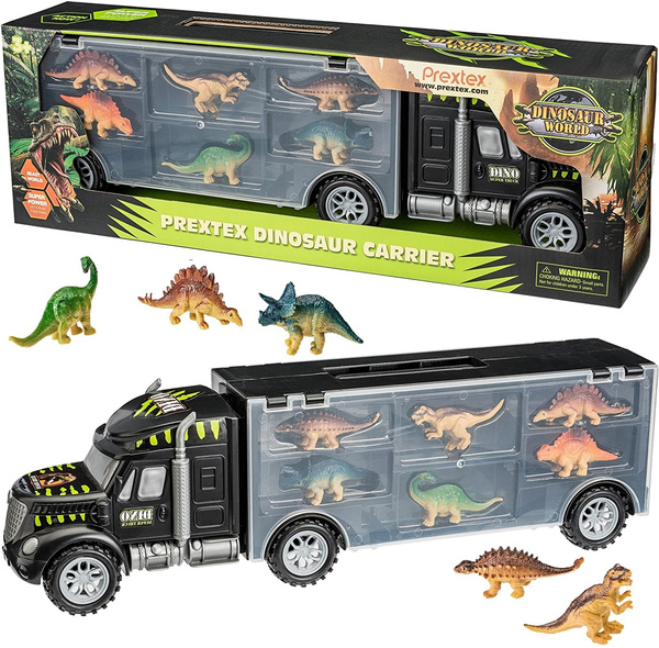 Dinosaur Truck Carrier 12 Toy Dinosaurs Playset With A Dinosaur Car World Dinosaur Toys Set For Toddler With More Dinosaur Monster Trucks For Boys Girls For 3 4 5 6 7 Years Old Wish