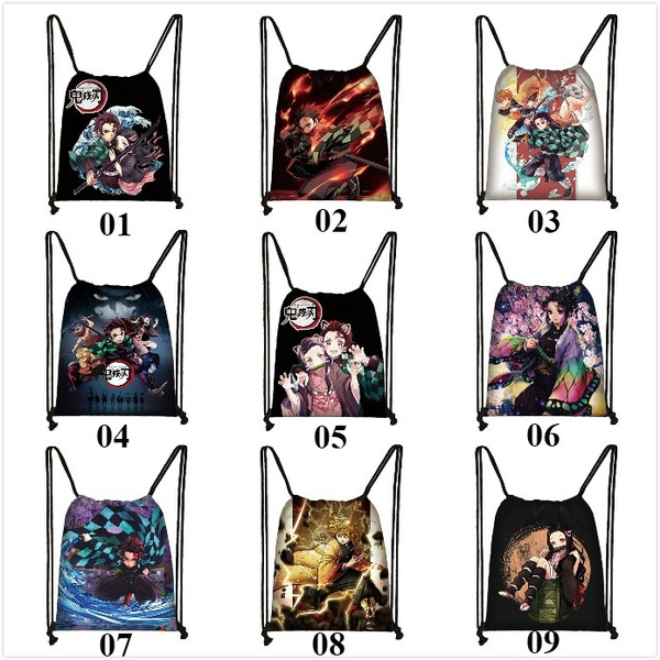紐結びバッグ, bagdecoration, canvas drawstring bags, Demon