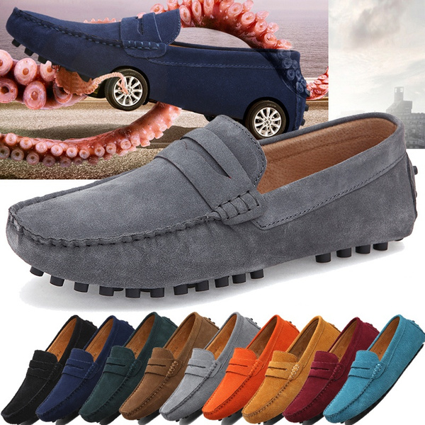 Fashion Mens Shoes Casual Fashion Peas Shoes Suede Leather Men Loafers Moccasins Slip On Men S Flats Male Driving Shoes Wish