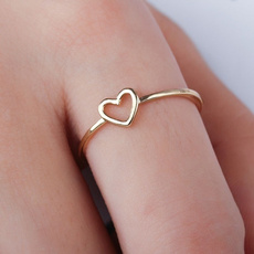 Heart, Love, friendshipring, gold