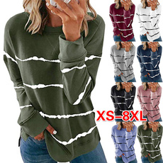 Plus Size, stripeshirt, Long Sleeve, Shirt
