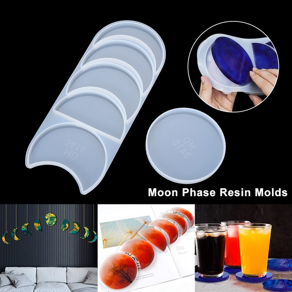 Crystal Epoxy Lunar Eclipse Resin Mold Silicone Mould Moon Phase Resin Molds DIY