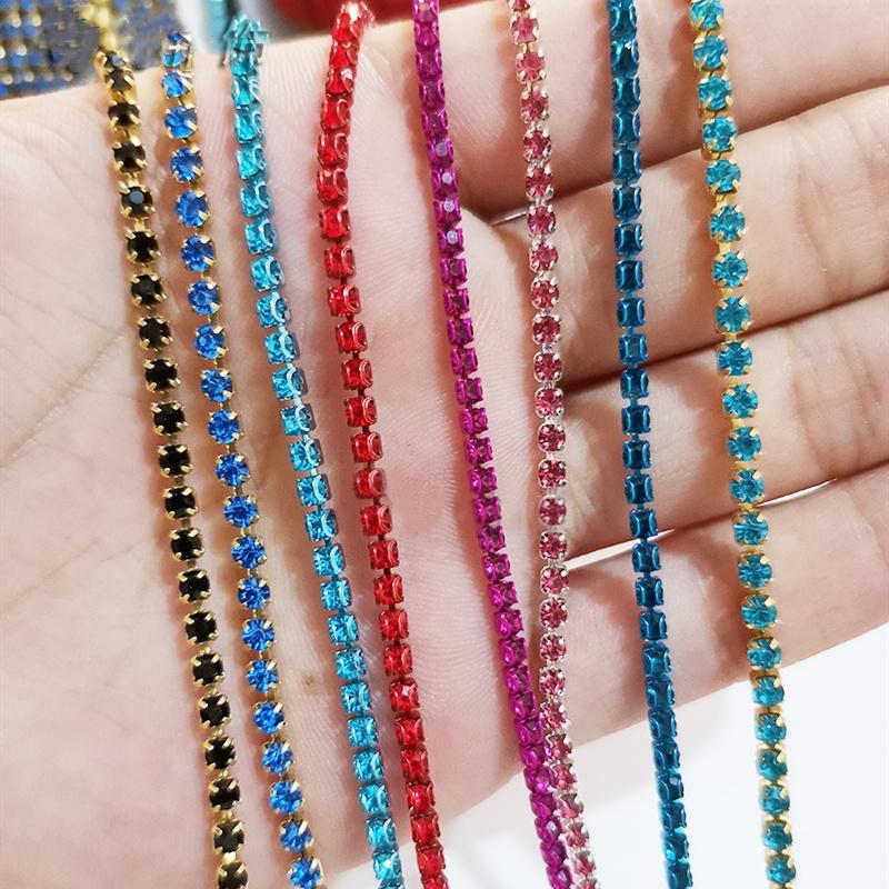 2 M x3MM Crystal Rhinestone Chain Riboon Trim DIY Craft Wedding Party Decoration