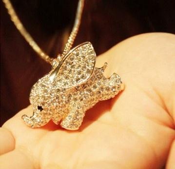 cute, Jewelry, elephantpendant, Fashion necklaces