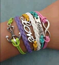 Charm Bracelet, Infinity, Jewelry, retro bracelet