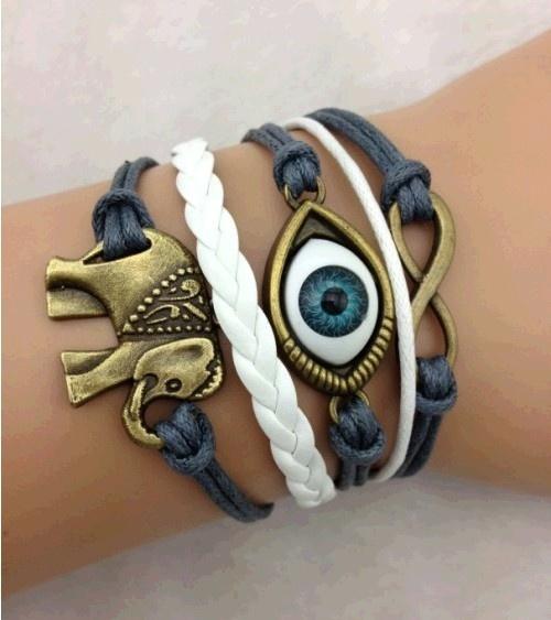 Infinity, Jewelry, leather, retro bracelet