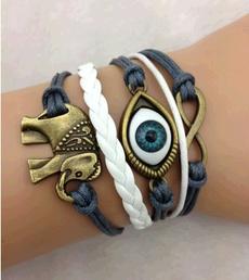 Infinity, Joyería, leather, retro bracelet