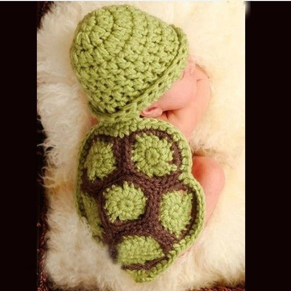 Turtle, Boy, Infant, Knitting
