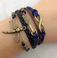 dragon fly, retrojewelry, Infinity, Fashion Bracelet