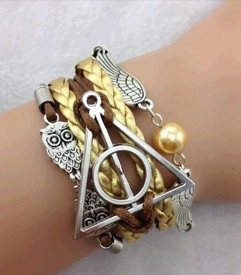Charm Bracelet, golden, Jewelry, Owl
