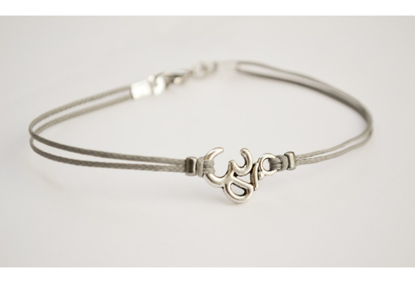 bracelet for men mens bracelet with Tibetan silver Om charm Hindu best man gift OM bracelet spiritual yoga bracelet mantra jewelry