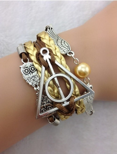 Charm Bracelet, golden, Owl, womensjewely