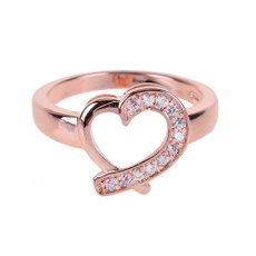 crystal ring, Women Ring, Gifts, heart ring