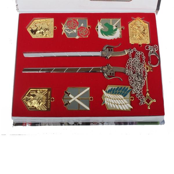 attackontitanbadge, Chain, Attack on titan, Necklace