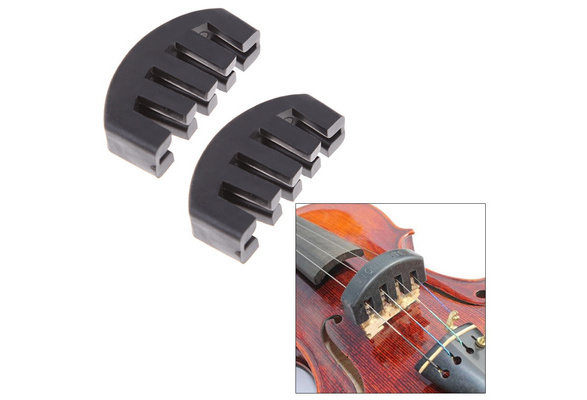 Futheda 4//4 Violin Mute Acoustic Electric Heavy Claw Rubber Silencer Ultra Heavy