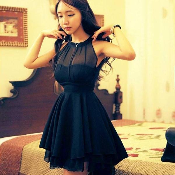 noveltylacedresse, Peplum dress, sexy Women's Fashion, chiffon