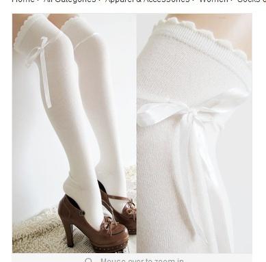 bowknot, Cosplay, Lace, Socks