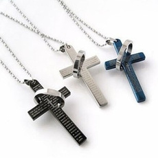 mens necklaces, biblecrossnecklace, ジュエリー, Stainless Steel