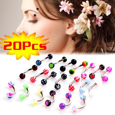 balllipring, Colorful, Stainless Steel, cosmetic