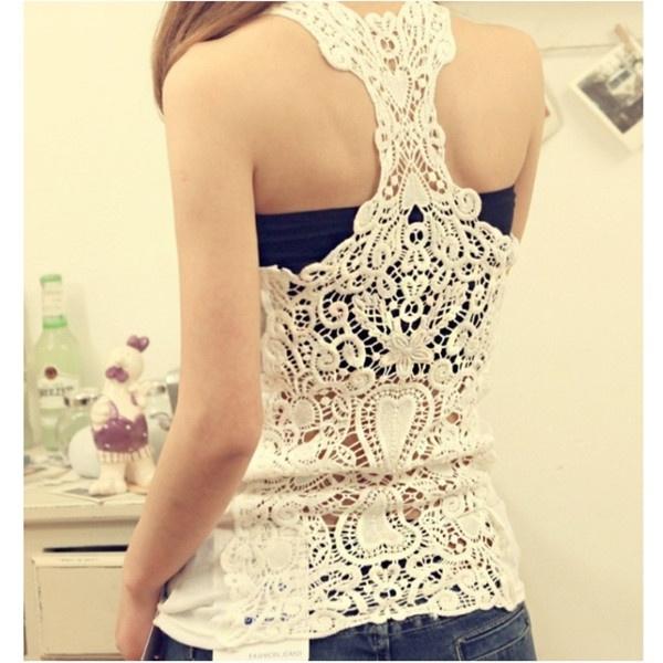Vest, Fashion, Lace, womens top