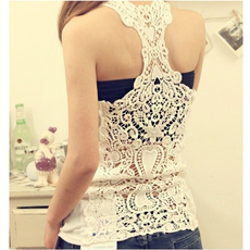 Vest, Fashion, Lace, womens top
