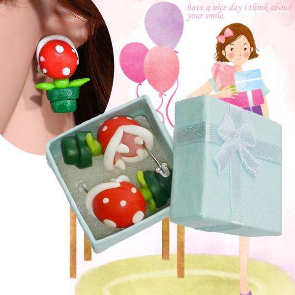 Mario, plantearring, fancyearring, women earrings