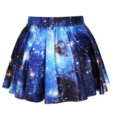 Blues, Mini, Skater Skirt, Fashion