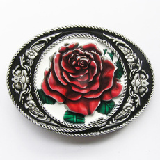 Fashion Accessory, Leather belt, western belt buckle, Rose