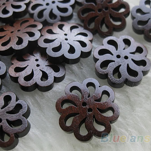 Clothing & Accessories, Flowers, woodenbuttonssmall, Wood