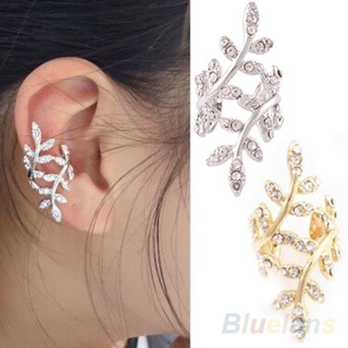 cute, leaf, Jewelry, Stud Earring