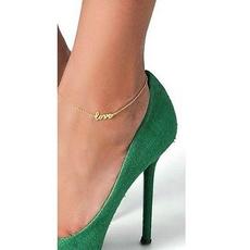 Sandals, Love, ankletschain, Chain